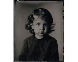 Eléa - Scan of Silver Portrait Tintype 20 x 25cm. www.silverportraitstore.nl