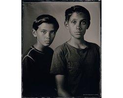 Diego en Santino - Scan of Silver Portrait Tintype 20 x 25cm. www.silverportraitstore.nl