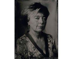 Annemarie - Scan of Silver Portrait Tintype 13 x 18cm. www.silverportraitstore.nl