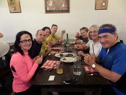 Lunch at cider house near San Sebastian