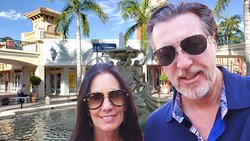 AT THE MIROMAR OUTLETS WITH ROSARIO AND CAROLYN CASSATA IN ESTERO FLORIDA.