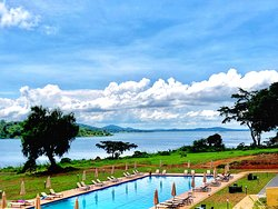 Kaazi beach resort- home away from home! So I like trying out new places and sharing my experience! And I say if your coming to Uganda and looking for a place to stay about 30km from the Airport and 10km from Kampala city, with a breathe taking environment and magnificent view of Lake Victoria Kaazi beach resort might be your place. They have 12 rooms, the menu is quite affordable and it's a very new but lovely place for those that would like some jungle/ nature in the city and quite place.