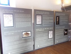 Some of the info displays just inside the entrance