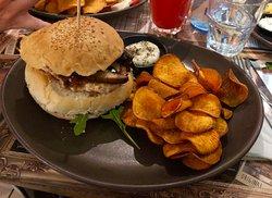 hambúrguer com batata doce