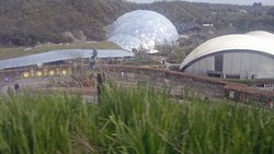 part of the site (shot from the bus back to the car park) - there are 2 domes but several buildings too plus a lot of gardens/paths - advise researching before you visit cos there's lots to fit in