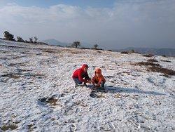 Choonki top after fresh snowfall