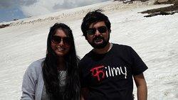 Aniruddha and Sayonee at Peak