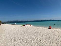 beautiful walk down the beach strip Boracay, Philippines
