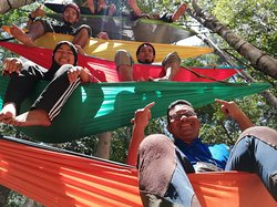 Hammock tower constructed during our recent Hammock Gathering in Lata Belatan