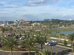 View from our front door.  Waterpark currently under construction.