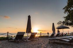 Sunset time at Hotel's beachspot