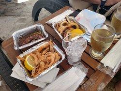 almuerzo de mariscos