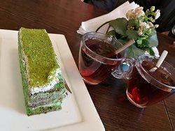 Cake was amazing with Turkish Chai