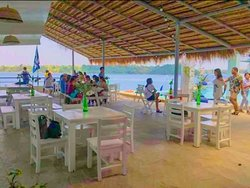 Eat while overlooking the Bay of Bolinao and feeling the cool breeze from the ocean.