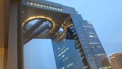 The Umeda Sky Bldg view from our room