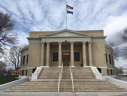 Interior and exterior photos of Pershing County Courthouse