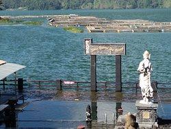 Natural hot spring at the beside of lake Batur