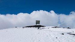 The top of mt Kilimanjaro national parks Tanzania.