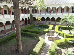 The area of the inner courtyard (seen from the second floor just above)