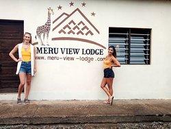 Christine and Mehabad at Meru view lodge