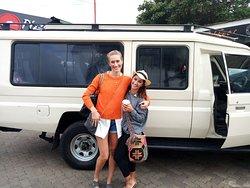 Christine and Mehabad ready for safari