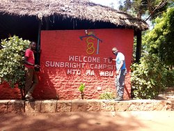 Our team at Sun bright tented camp