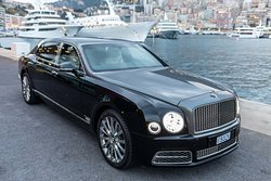 Bentley Mulsanne Extended Wheelbase Limousine rental services with chauffeur, in the Principality of Monaco.