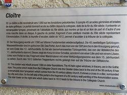 Cloître de St-Ursanne (panneau d'informations)