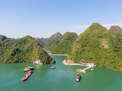 The way to Viet Hai by boat - Viet Hai harrbour