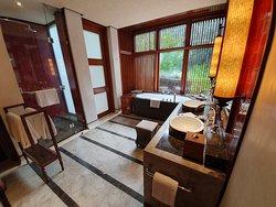 bathroom of our villa