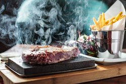 Delicious Steak on the Rock so you can cook everything by yourself