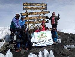 Celebration at Kilimanjaro summit