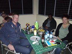 Camping safaris dinner