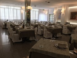 Restaurant area - not in keeping with hotel rooms or grounds