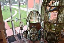 Ponce de Leon Lighthouse & Museum old Fresnal Lenses