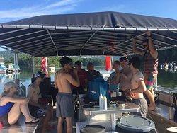 Divers on Sarge's Dive Shop's new dive vessel.