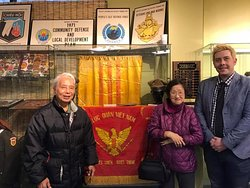 A veteran and his wife at the Museum of the Republic of Vietnam in Westminster, California.