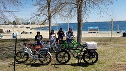 College girls took the bikes out for a spin around the Aurora Reservoir.