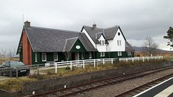 Corrour station house, picture taken from Corrour Railway station.