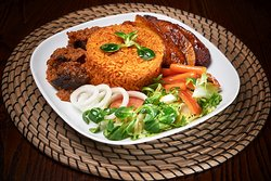 This is our Tribe Jollof Rice, a very special Nigerian Dish served on almost all special occasions.
