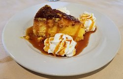 Flan - generous portion of goodness, creaminess and caramelliness (not an actual word, you get the picture)...all for $8