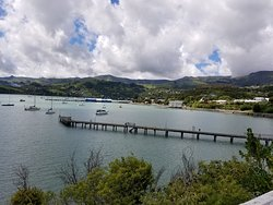 View of the town of Akaroa from the lighthouse