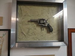 The pistol with which Ms Parkinson shot the man who promised and then did not deliver.