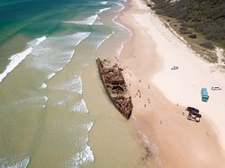 Cruise up 75 Mile Beach and discover the historic Maheno Shipwreck.