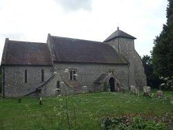 Norman church at Pyecombe