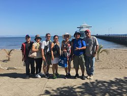 In front of the ship Puntarenas