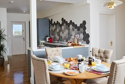 Dining and kitchen are of one of the Lodges@Sea View House