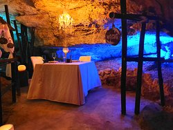 Private dining area for two