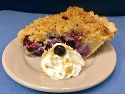Blueberry Custard Pie, May's dessert of the month