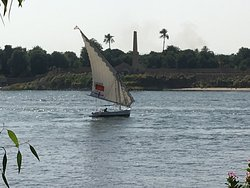 View of the Nile from the hotel